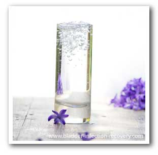Water is a natural and effective way to prevent and cure bladder infections