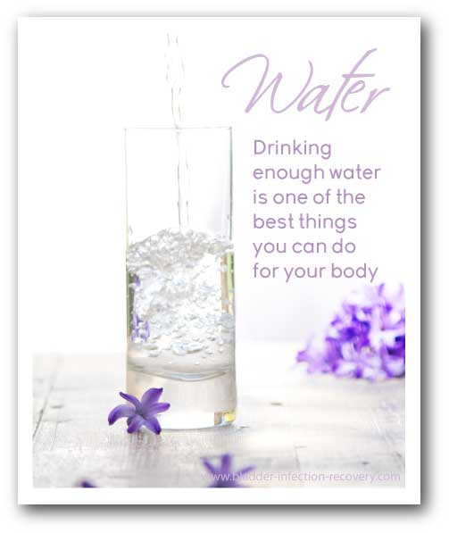Drinking water is one of the best things you can do for your body, including preventing bladder infections. Water is also one of best natural cures for bladder infections.
