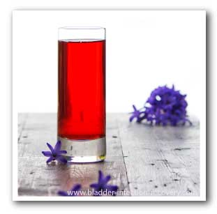 It is important to select an unsweetened cranberry juice, as sugar can aggravate the infection