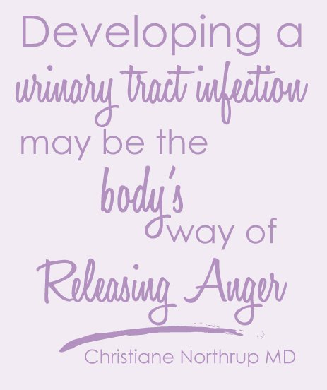 Christiane Northrup Quote. Developing a Urinary Tract Infection may be the bodys way of releasing anger