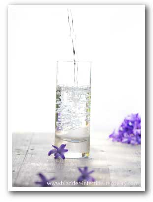 Water is one of my favourite natural cures for bladder infections